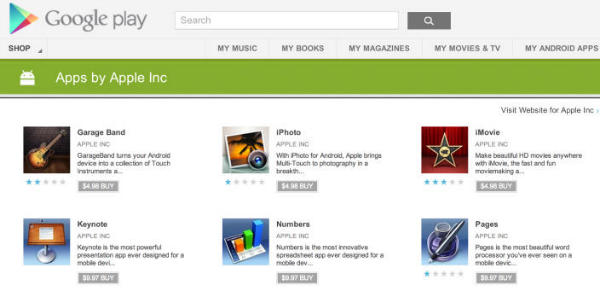 Apple aplikacije Google Play