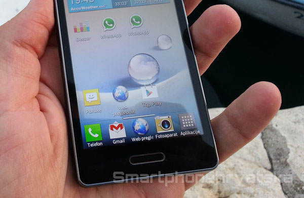 LG Optimus L5 2 zaslon