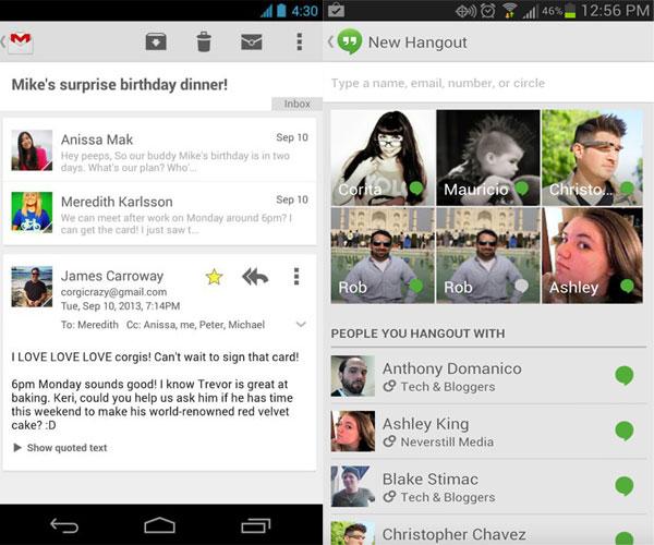 novi gmail hangouts prikazuje online