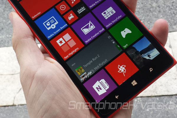 Lumia 1520 recenzija zaslon