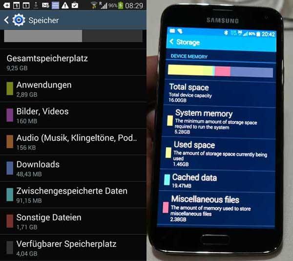 Galaxy S5 10.7 GB iskoristive memorije
