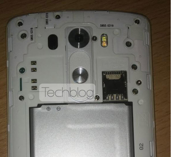 LG G3 ispod stražnjeg poklopca