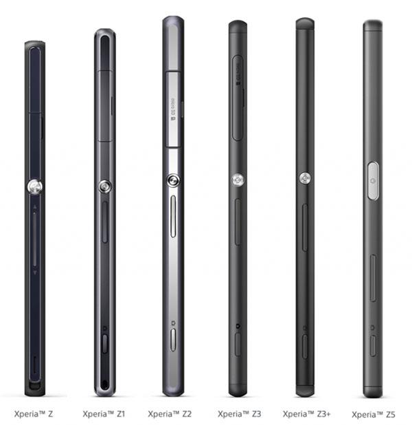 Sony Xperia Z obitelj - evolucija na slici