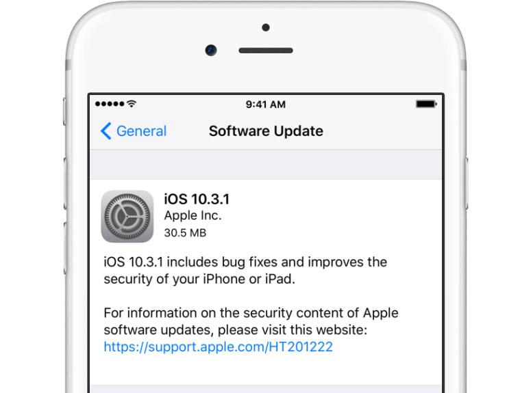 iOS-10.3.1-ažuriranje