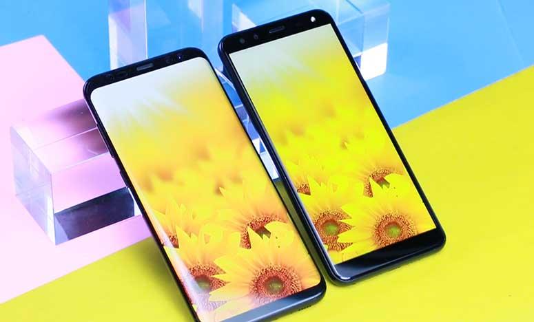 Usporedba zaslona: LEAGOO S8 vs. Samsung S8 Plus