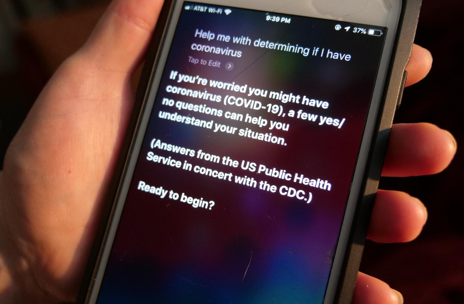Amerikanci mogu pitati Siri jesu li zaraženi koronavirusom