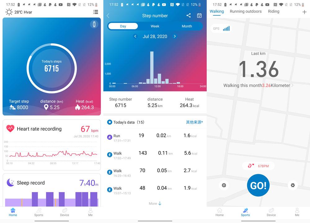 Haylou Fit app Haylou Solar recenzija