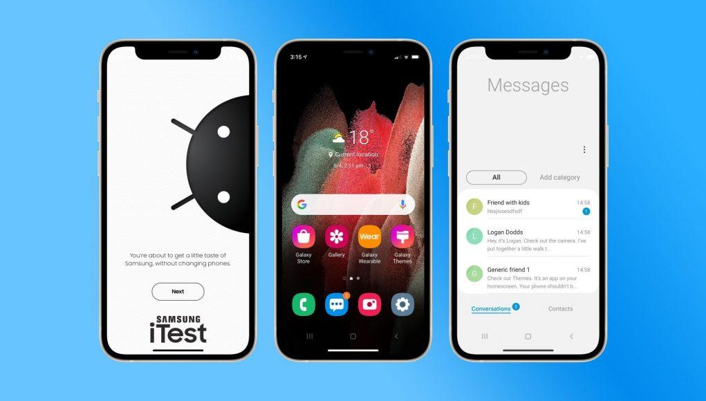 iTest pretvara iPhone u Galaxy Telefon